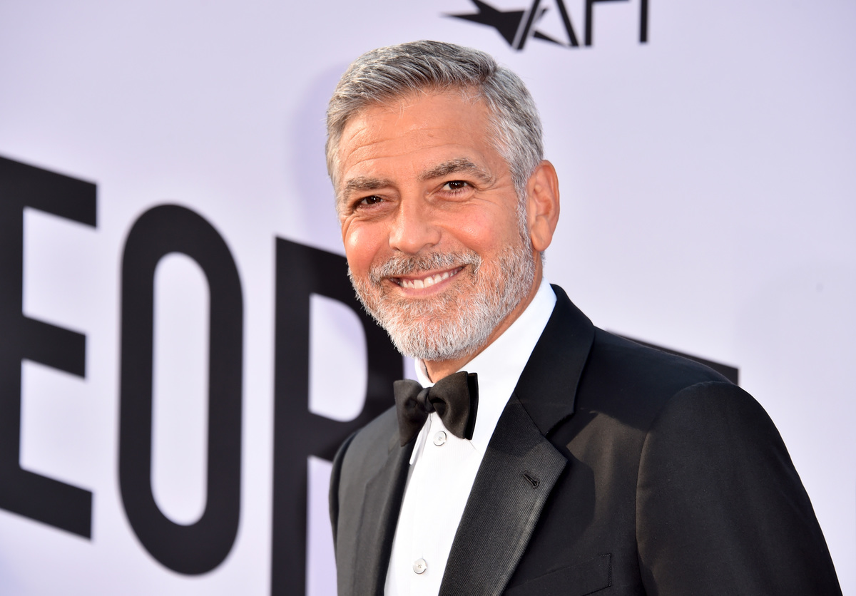 George Clooney in 2018 at Dolby Theatre receiving lifetime achievement award