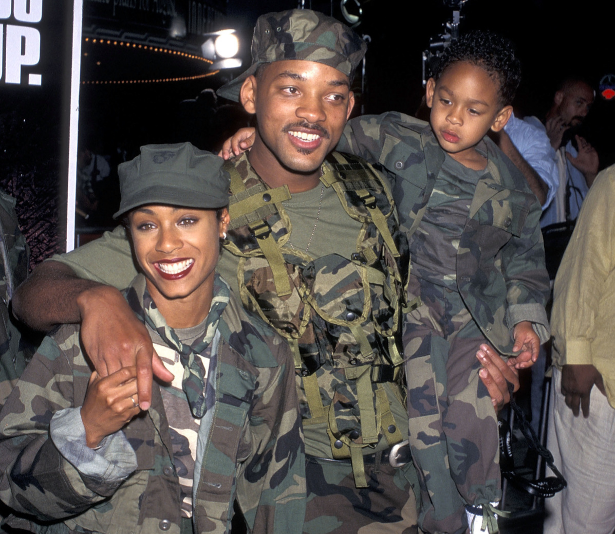 Will Smith with wife Jada at Independence day premiere in June 1996