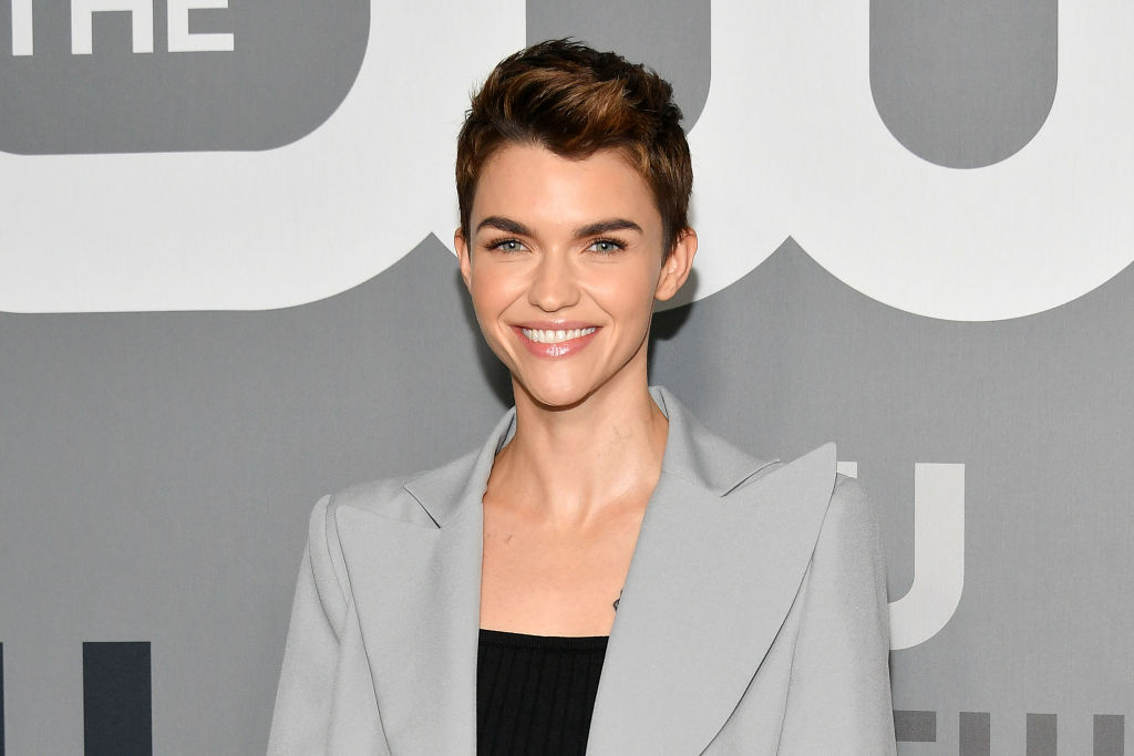 Ruby Rose wearing silver jacket attends the 2019 CW Network Upfront