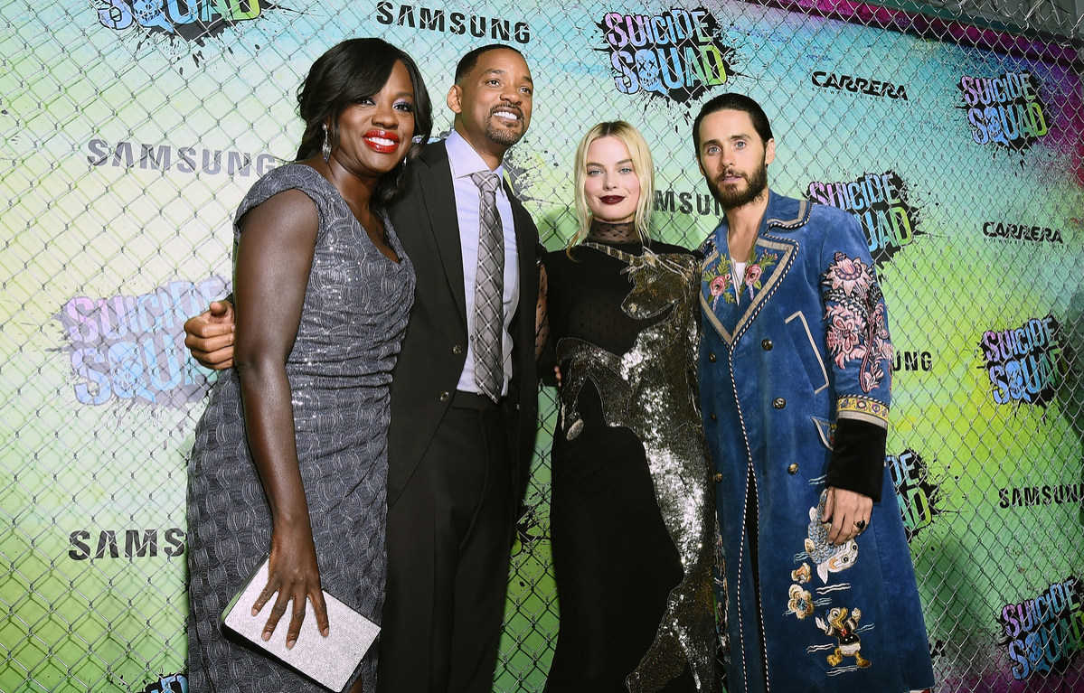 Suicide Squad cast in New York - Davis, Smith, Robbie and Leto