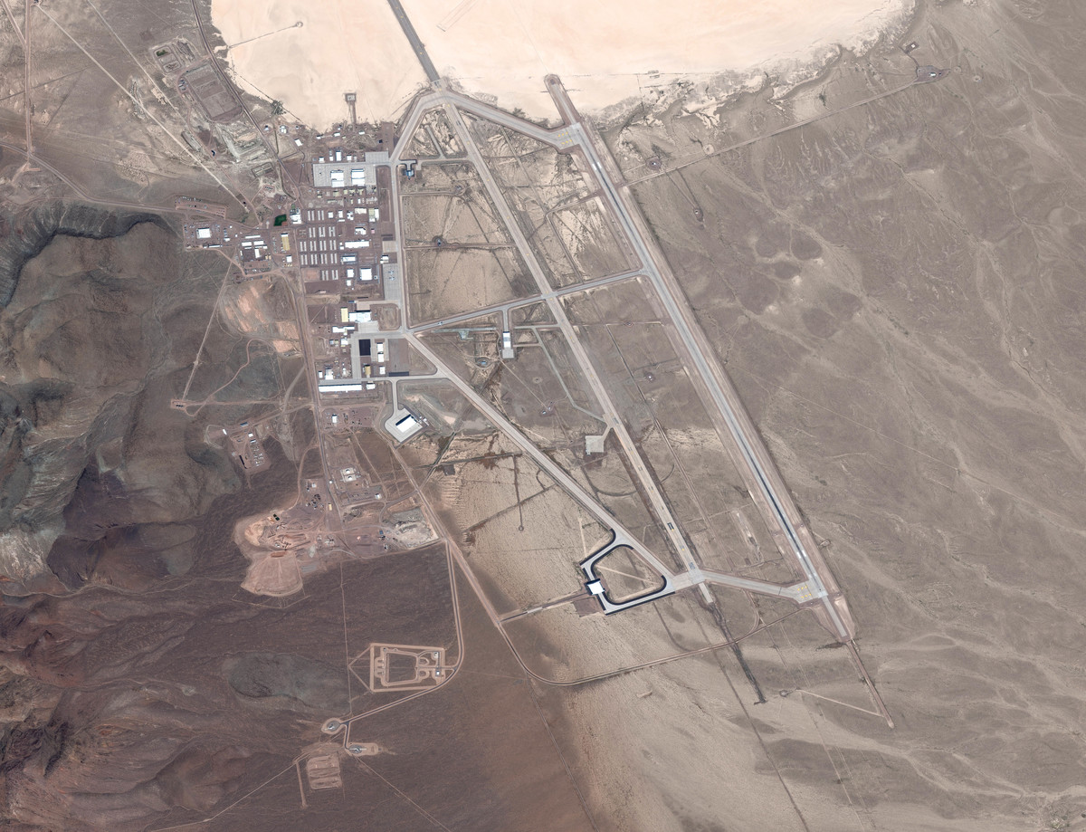 area 51 in nevada aerial view