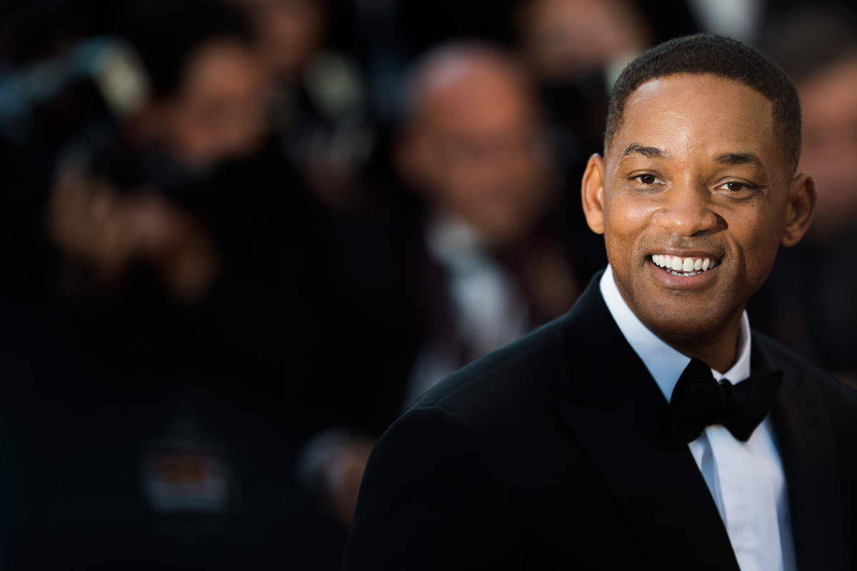 Will Smith at Cannes Film Festival in May 2017, black tux