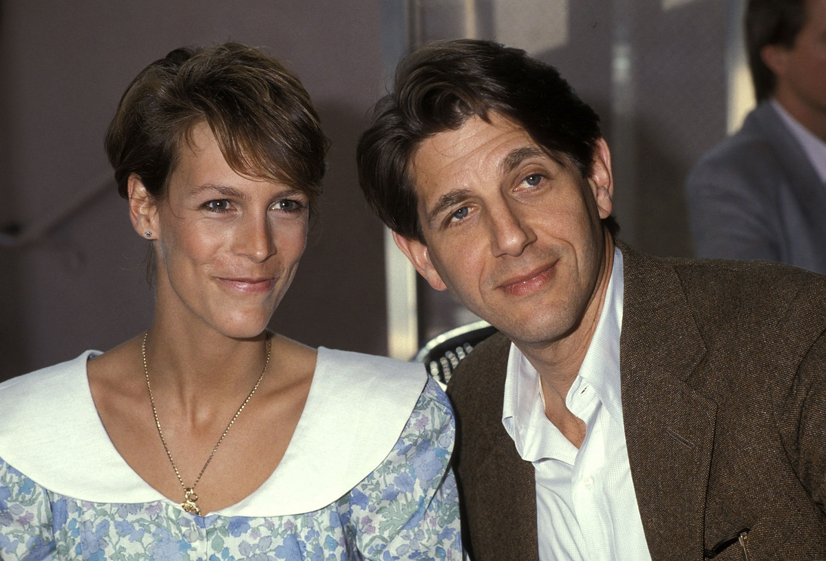 Jamie Lee Curtis with Peter Coyote in West Hollywood 1985