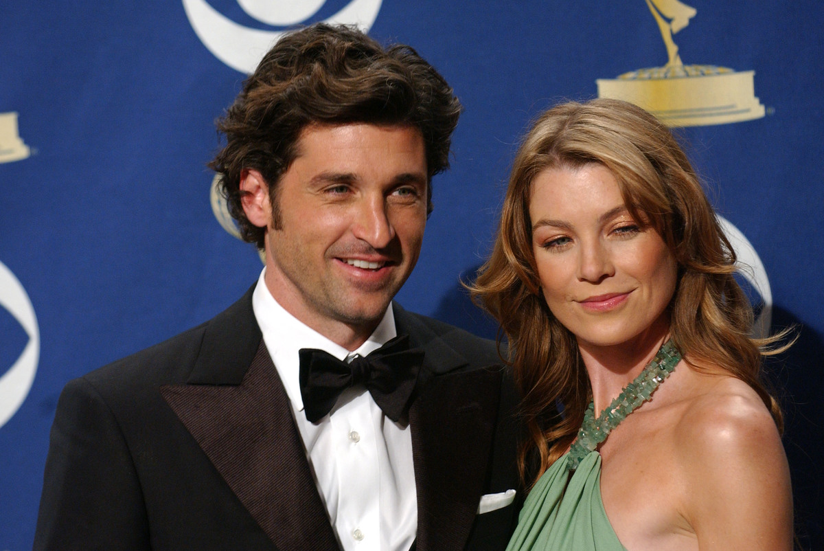 Patrick Dempsey 2005 with Ellen Pompeo at 57th annual emmys