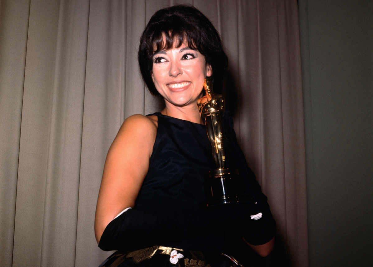Rita Moreno 1962 with academy award