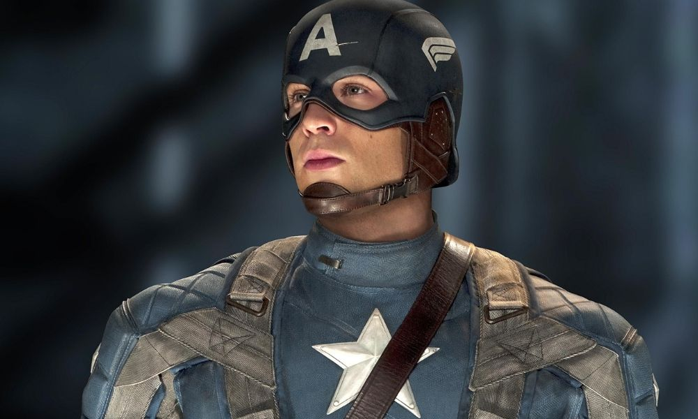 chris evans captain america looking off into the distance