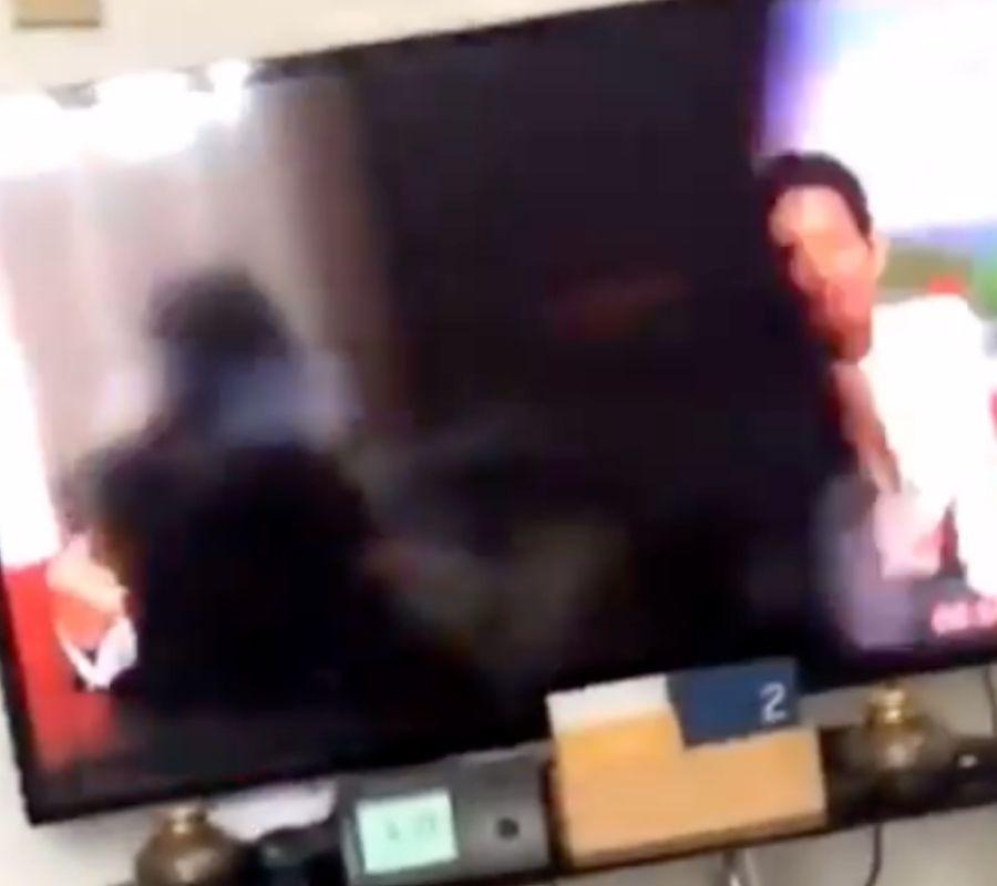 lil nas walking across video screen BBC breakfast TV