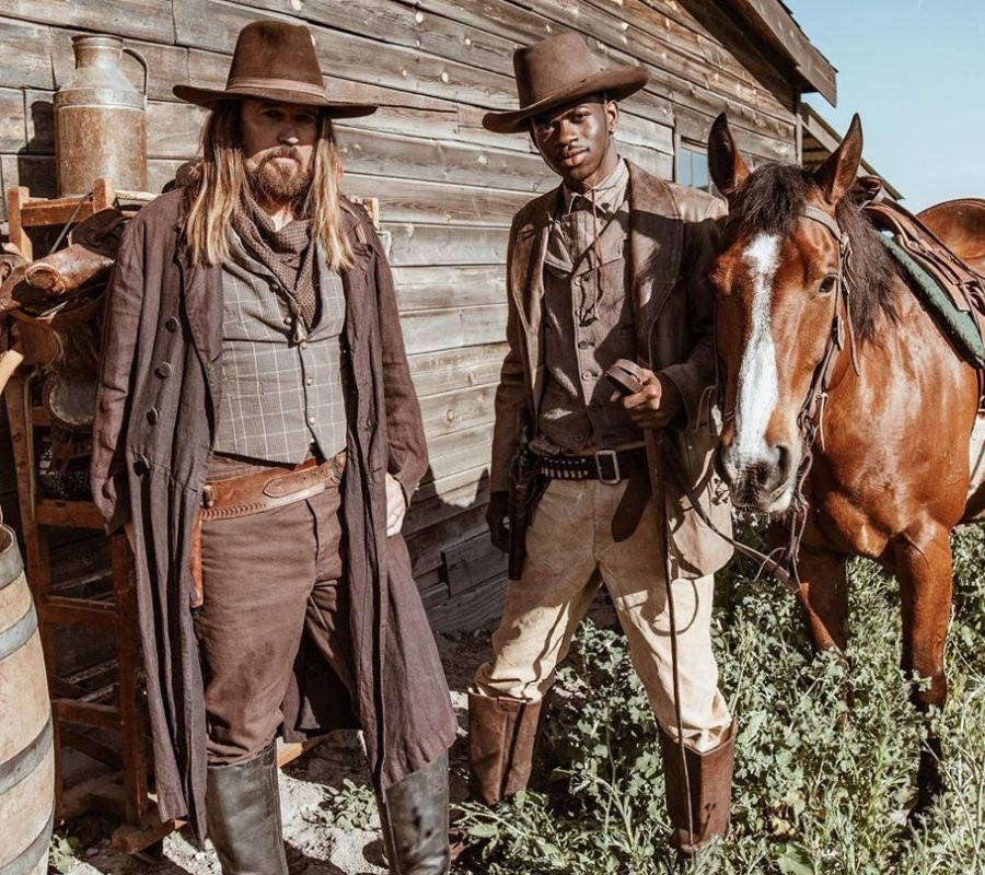 lil nas x and billy ray with some horses