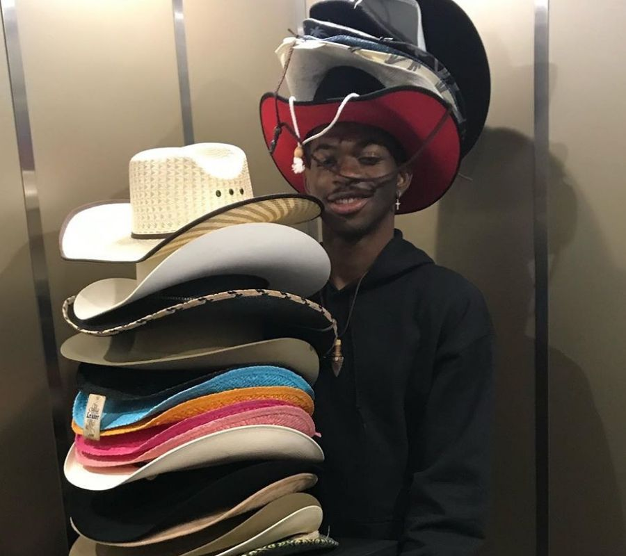 hats on hats on hats lil nas x