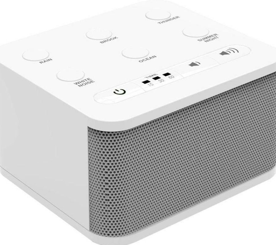 sleep machine white noise machine it's got buttons and a speaker