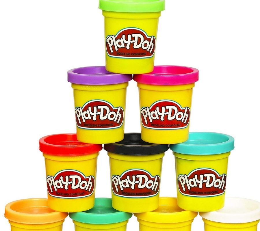 play doh tower all colors