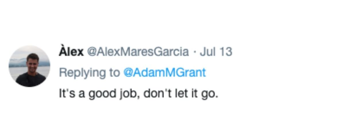 tweet about not leaving a job you don't like even if it's good