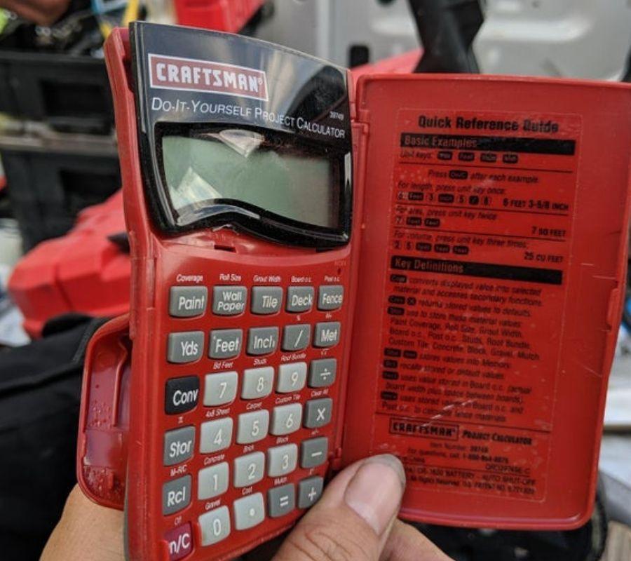 melted calculator bent in pocket
