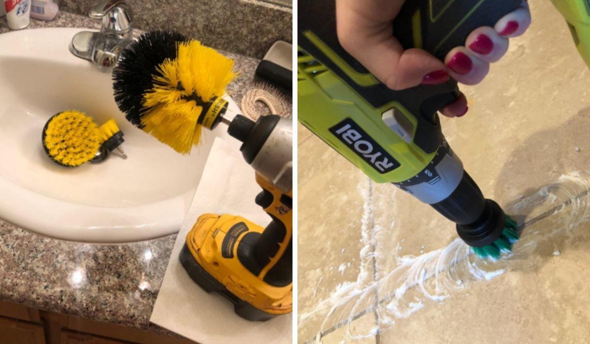 drill power heavy duty stuff bristle scrub brush on amazon