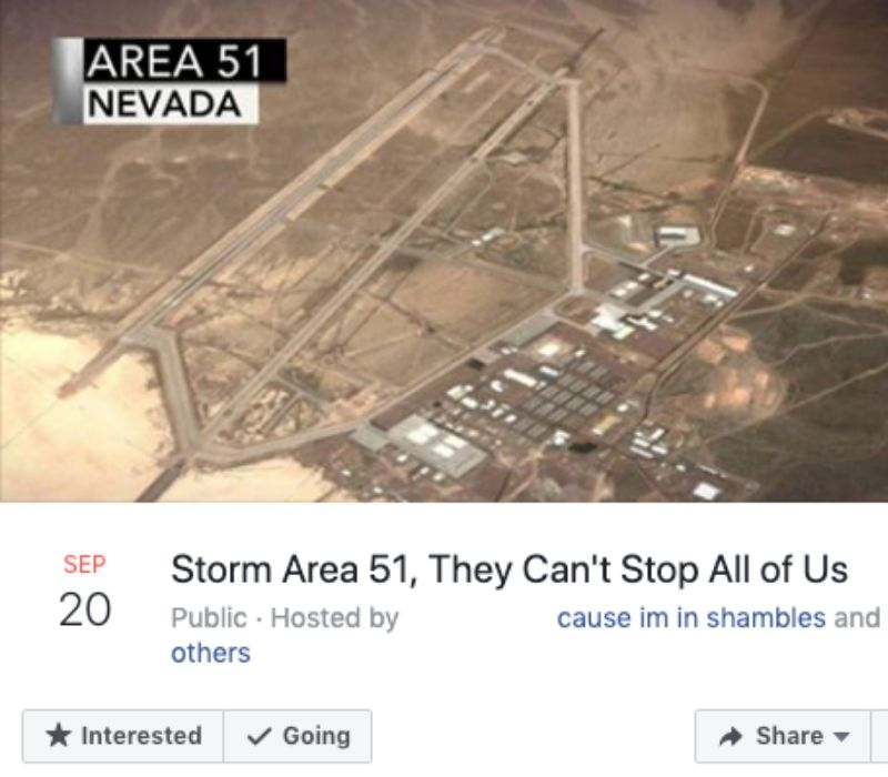event details for storming area 51