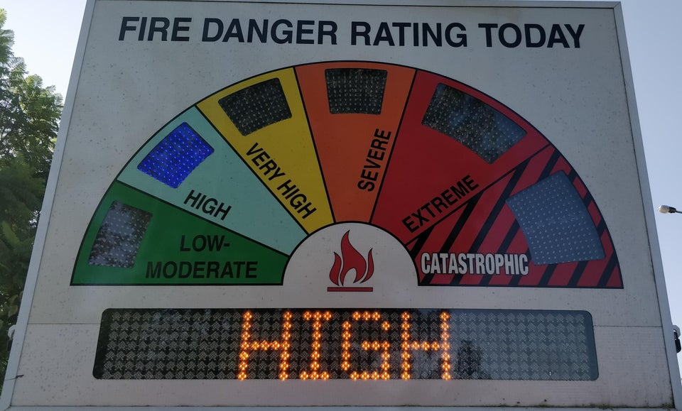fire risk in australia from low-moderate to catastrophic