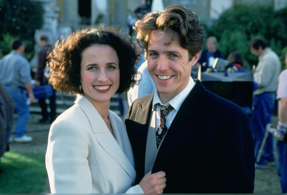 four weddings and a funeral hugh grant and andie macdowell