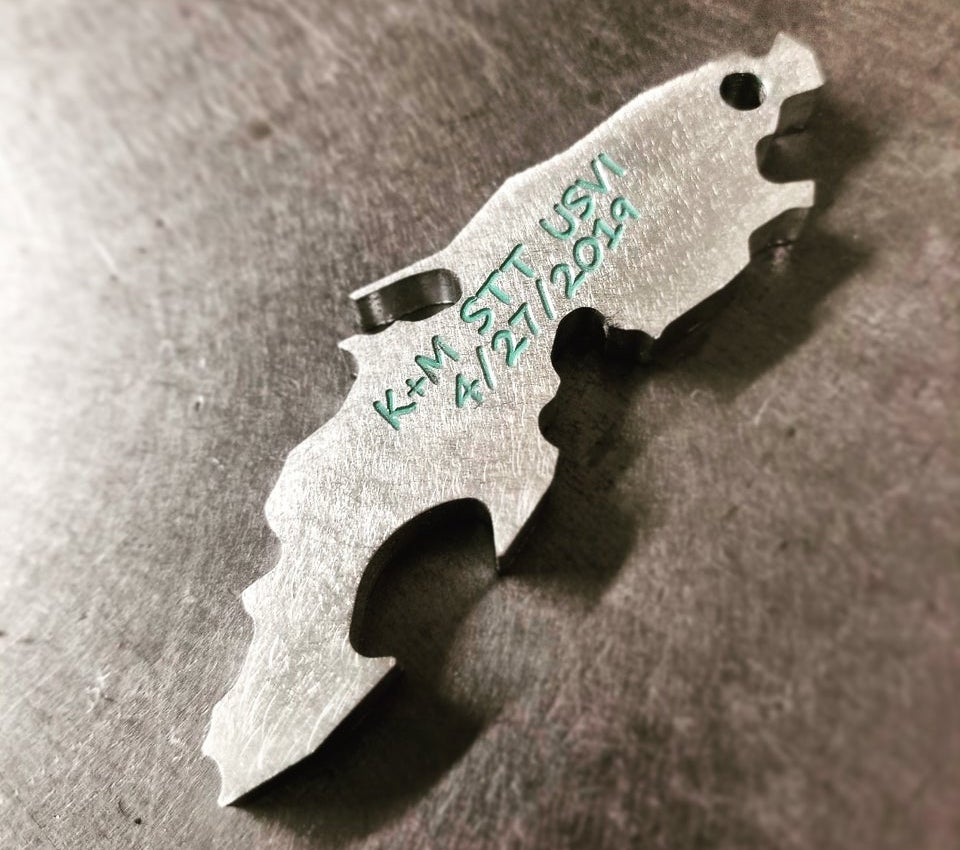state bottle opener wedding favor