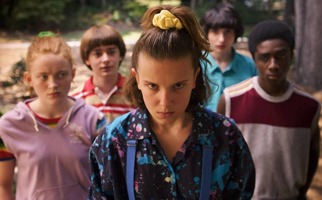 stranger things cast - Max, Will, Mike, Lucas, Eleven