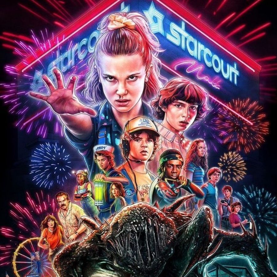 stranger things hand drawn picture