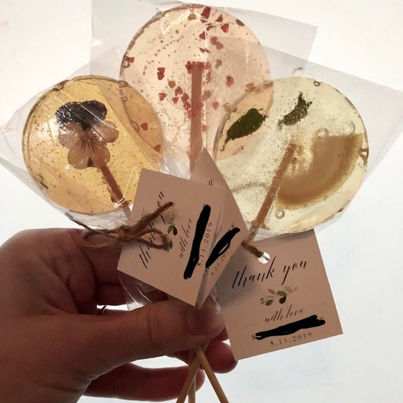 lolipop wedding favor