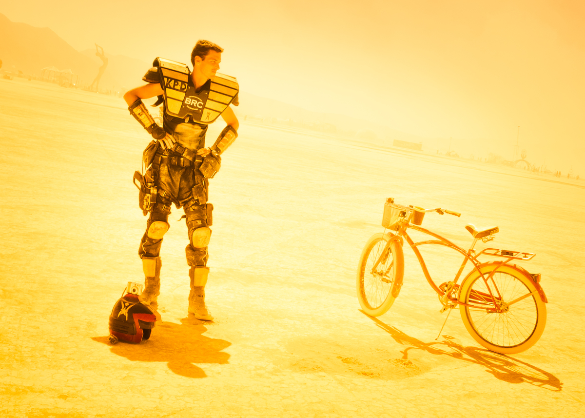 bicycle in the desert