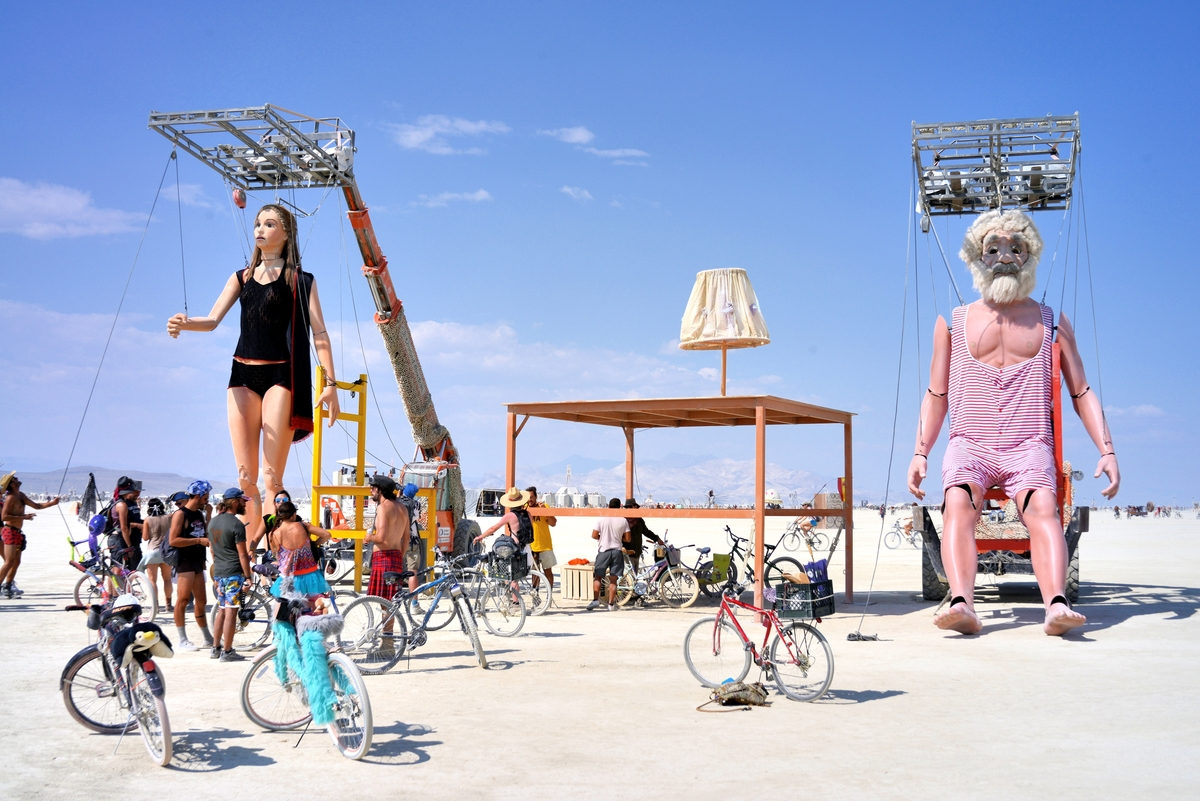 burning man arts sculptures