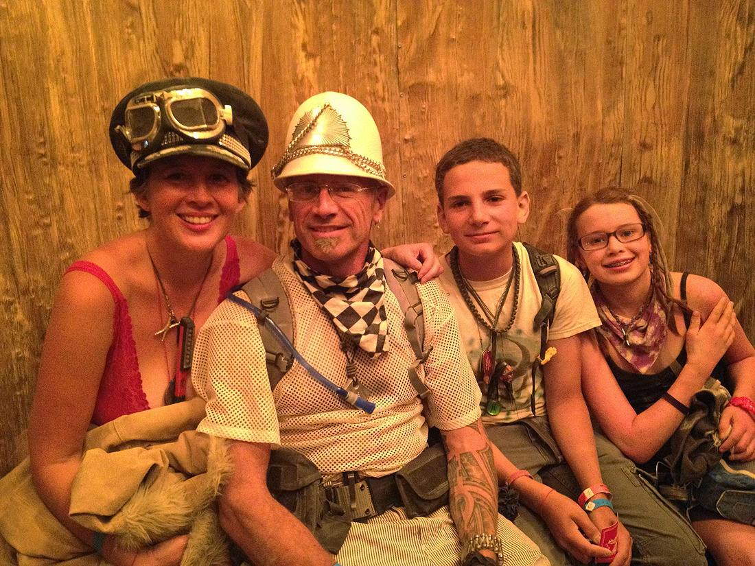 family at burning man