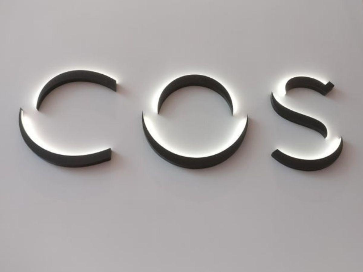 logo clothing store light