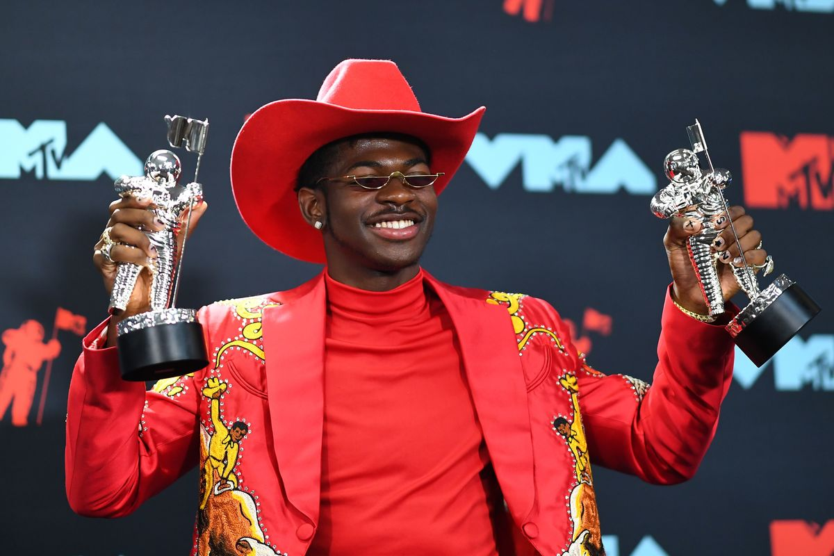 Rapper Lil Nas X at VMAs with two awards