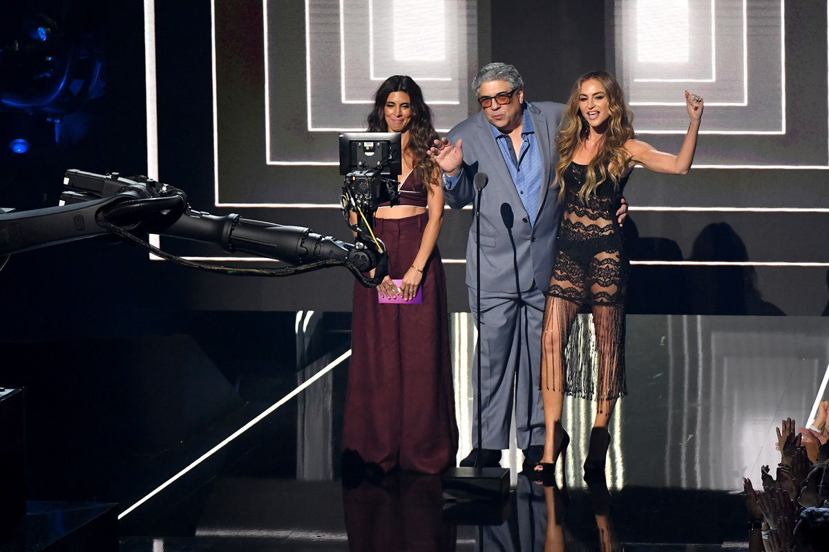 The Sopranos at the VMAs amie-Lynn Sigler, Vincent Pastore and Drea De Matteo