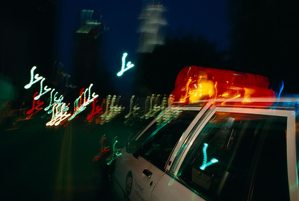 Cop car lights