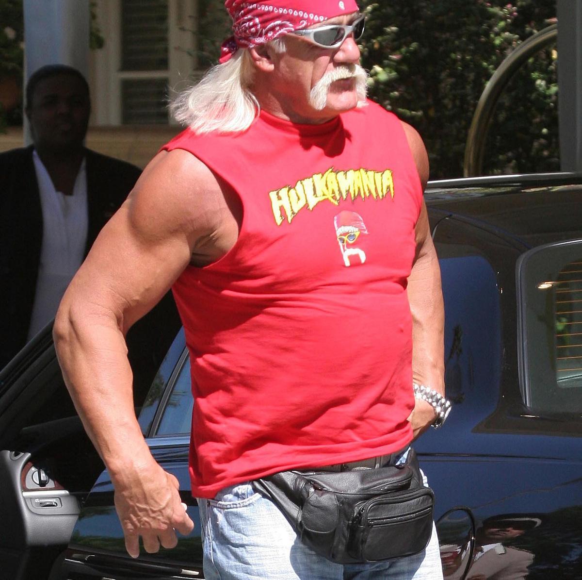 hulk hogan wearing a fanny pack