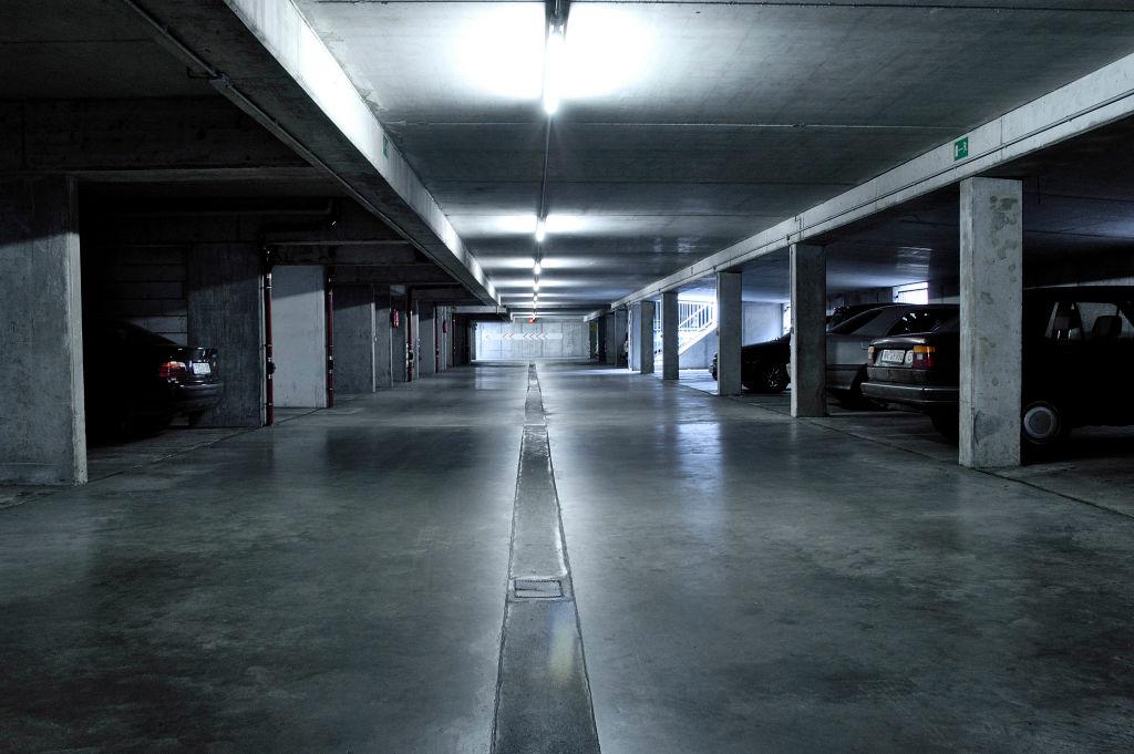 Photo of underground parking lot