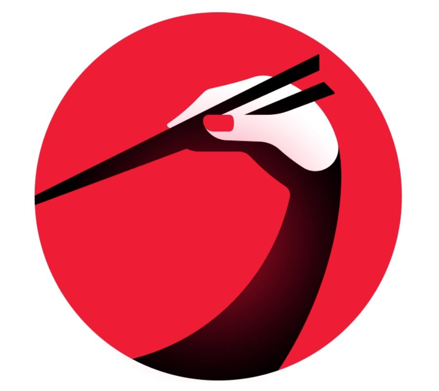 crane logo simultaneously hands and chopsticks