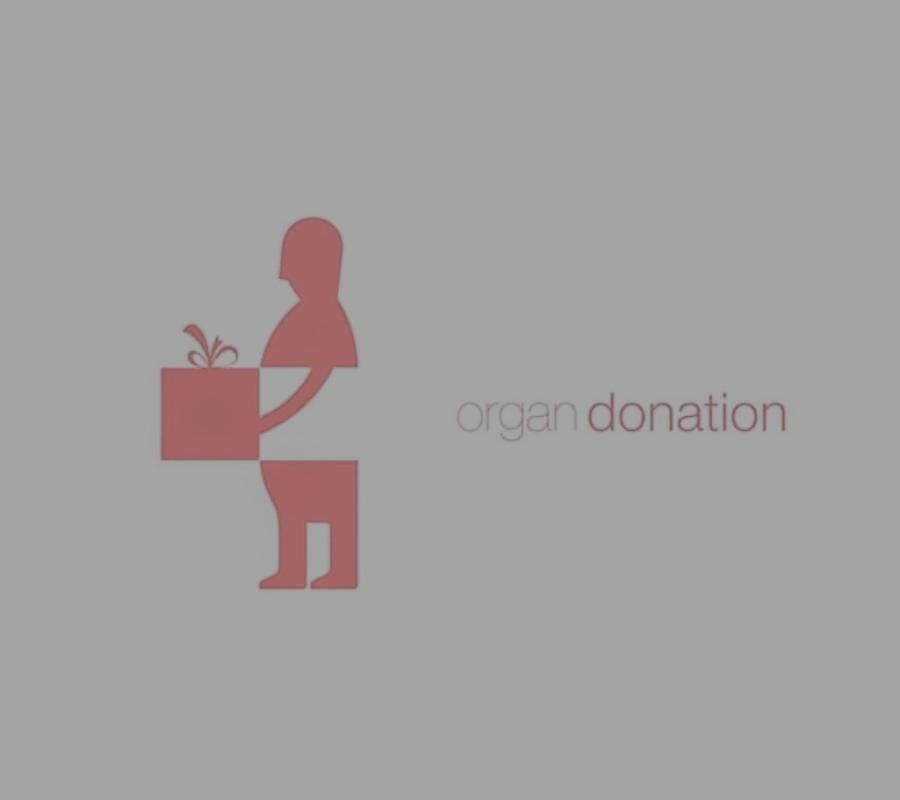 man giving organ logo