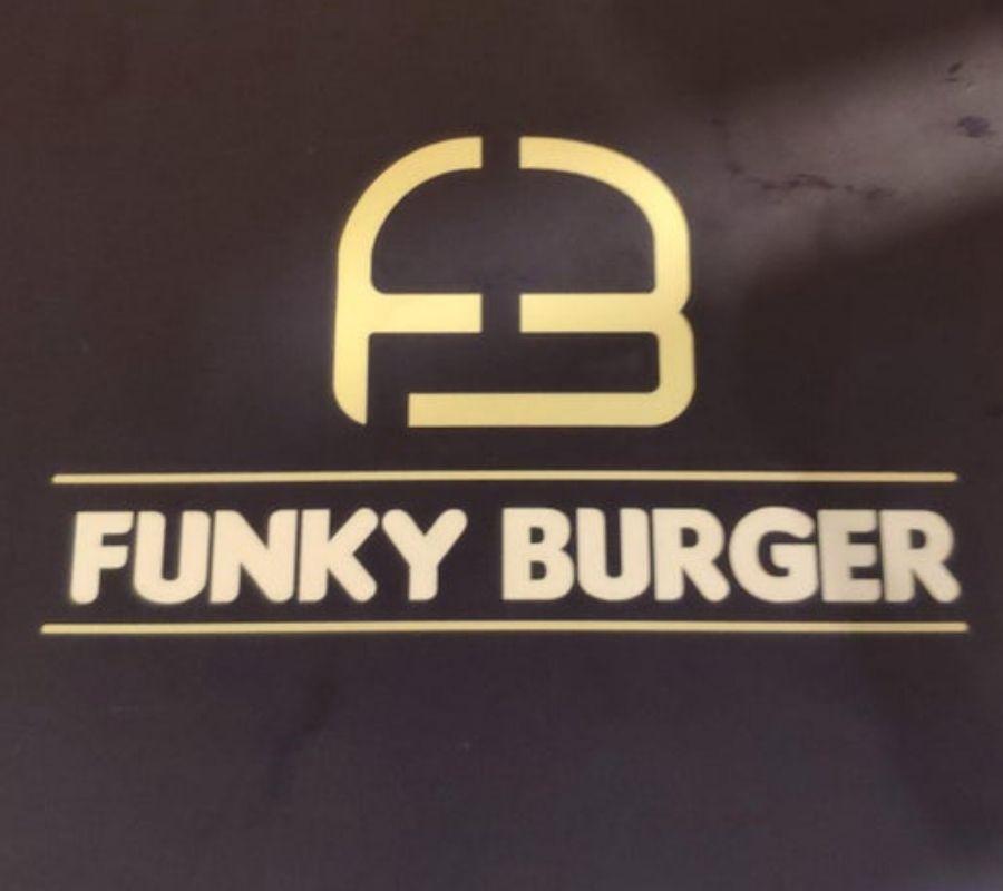 burger funky logo