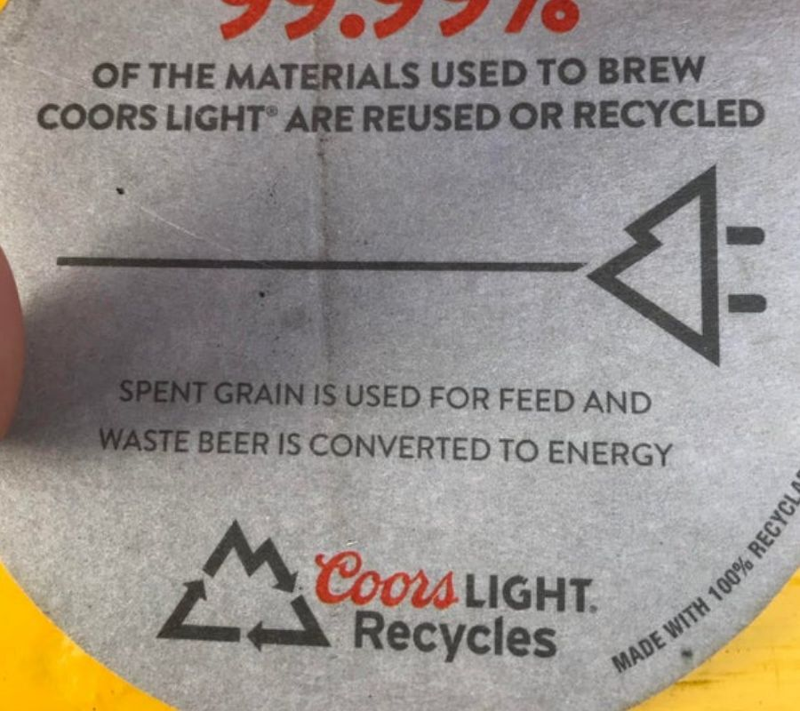 coors light logo looks like mountains and plug