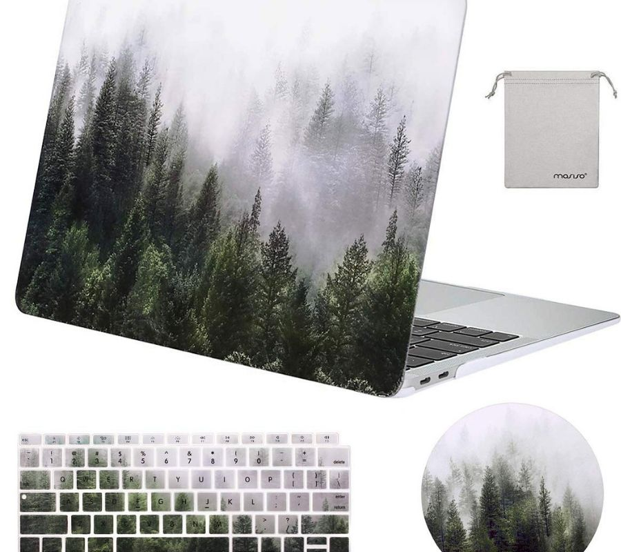 laptop cover and sticker forest