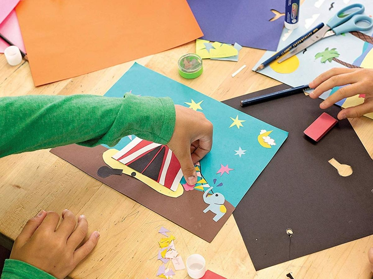 construction paper decorating