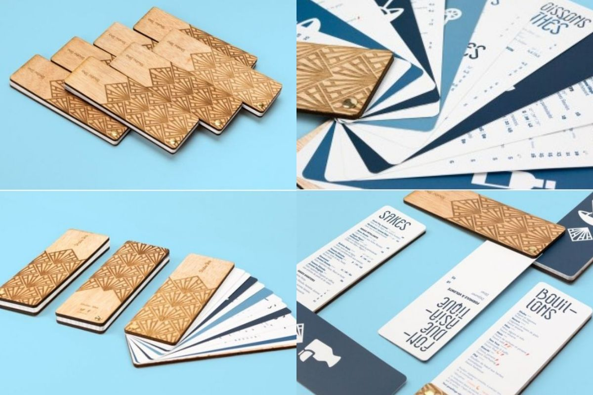 folding menus restaurant