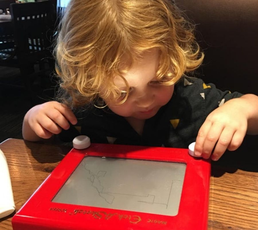 etch a sketch menu for kids