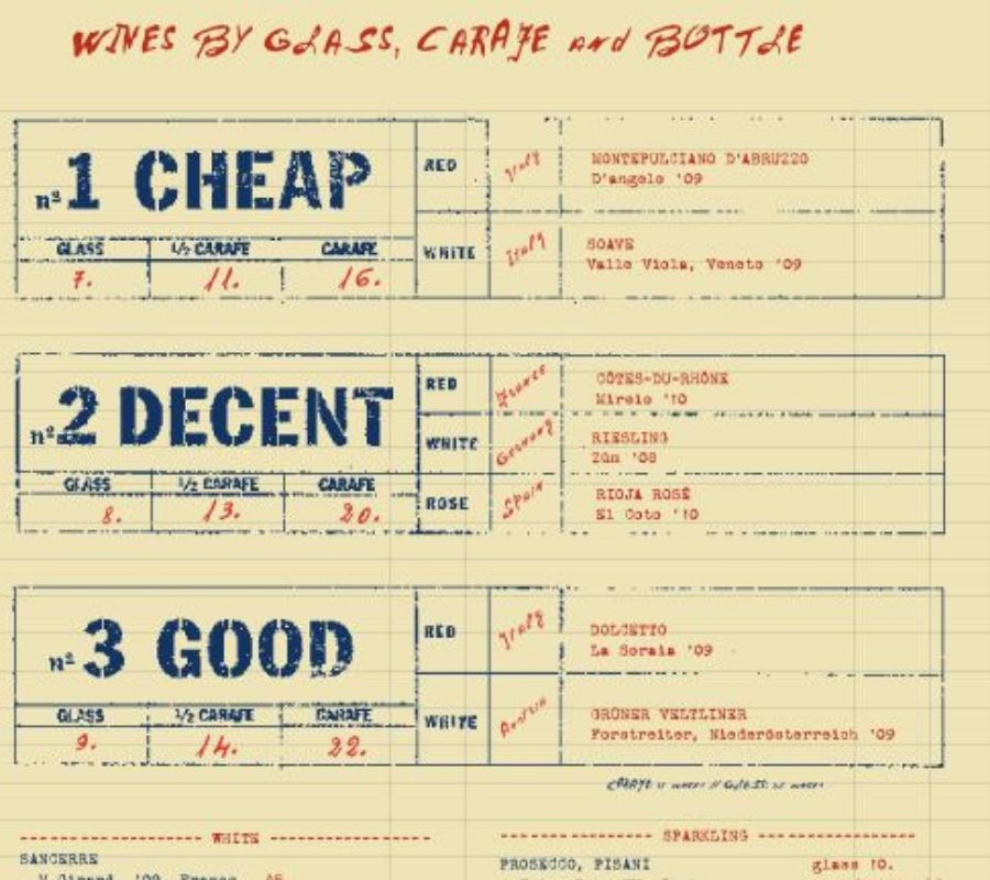 cheap decent good wine and beer prices