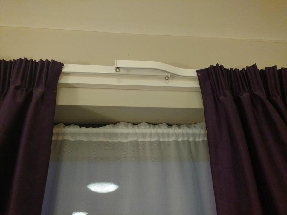 curtain overlap in a hotel