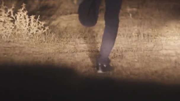 Man running in the dark