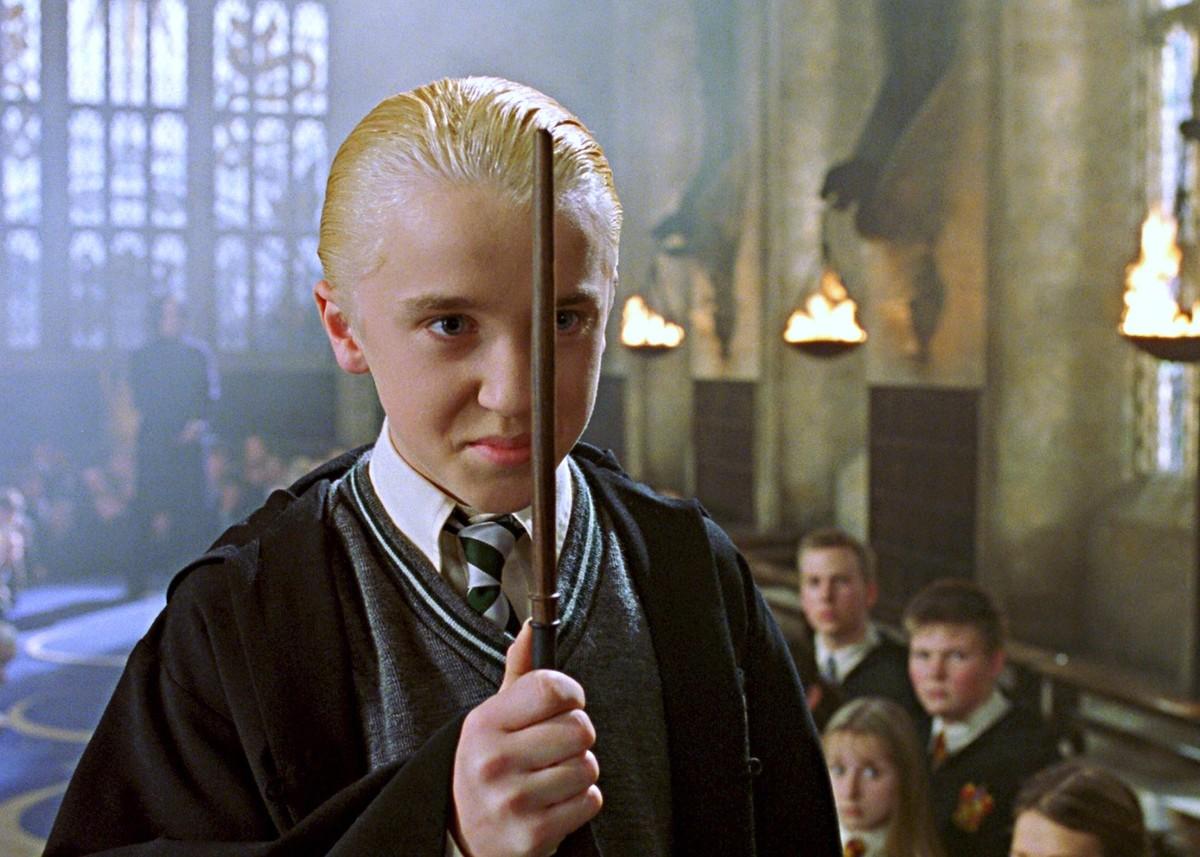 tom felton as draco malfoy in harry potter