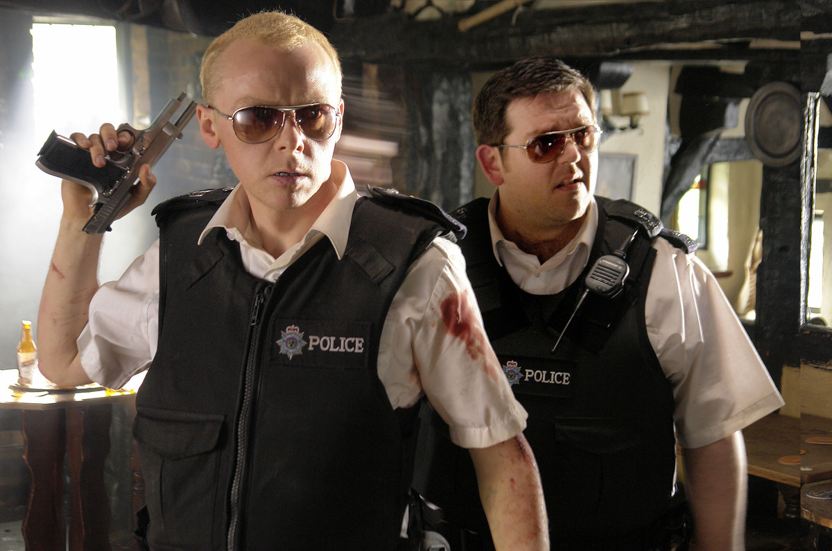 a scene from hot fuzz