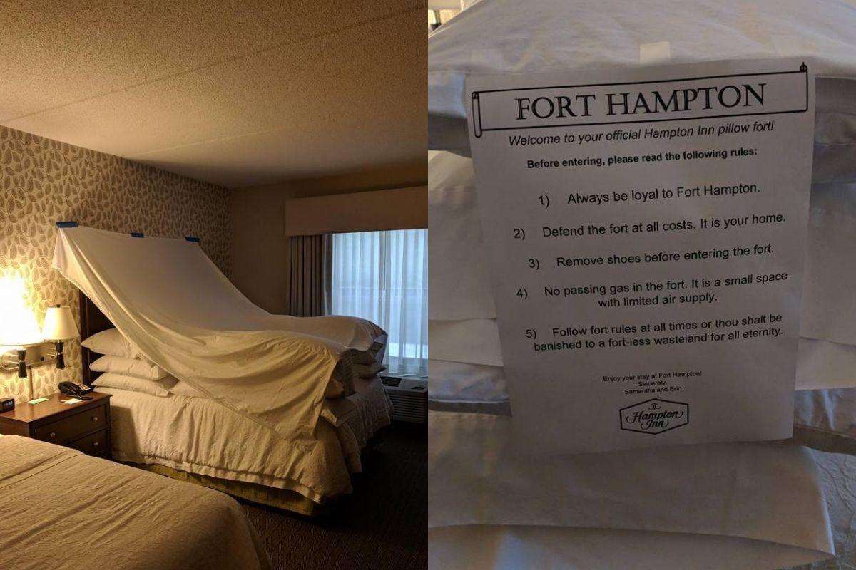 hotel fort at the Hampton Inn