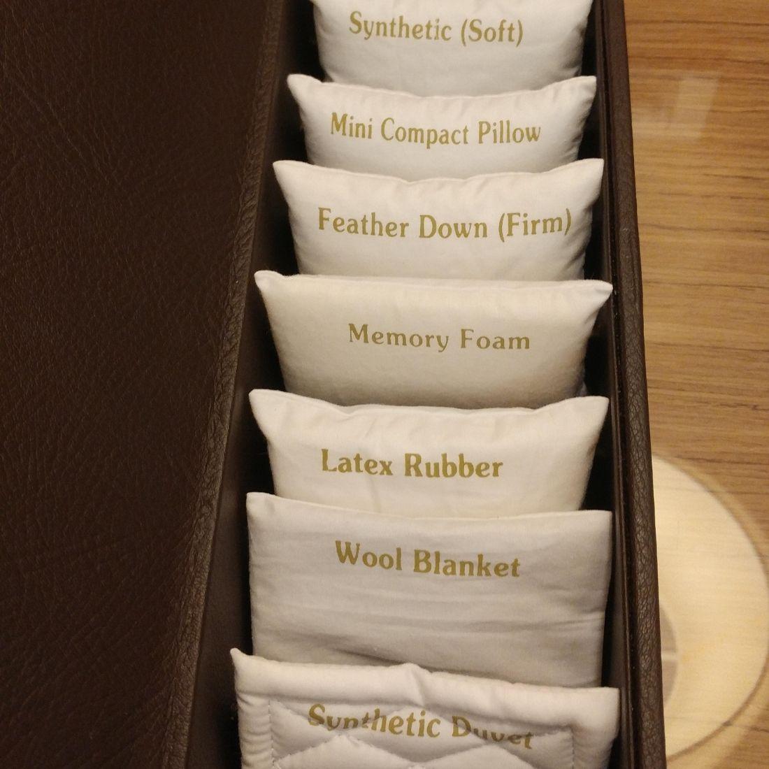 pillow menu in hotel