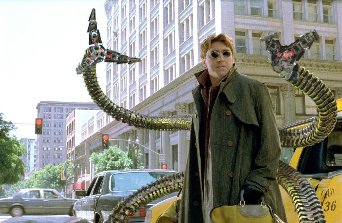 alfred molina named his tentacles in spider man 2